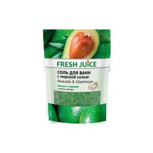 Соль для ванн с пеной. Авокадо и черимойя Fresh Juice