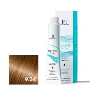 Крем-краска для волос TNL Million Gloss оттенок 9.34 Очень светлый блонд золотистый медный 100 мл
