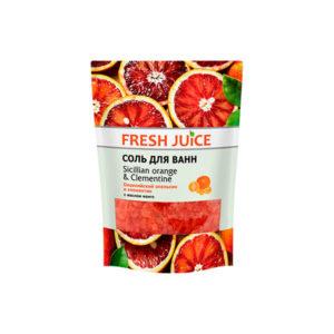 Соль для ванн с пеной. Сицилийский апельсин и клементин Fresh Juice