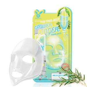 Маска для лица тканевая Elizavecca TEA TREE DEEP POWER RING MASK PACK