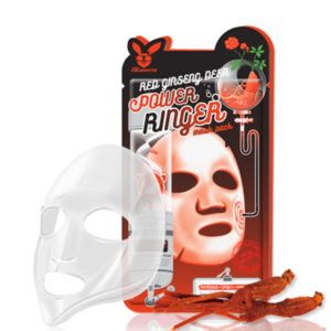 Маска для лица тканевая Elizavecca RED GINSENG DEEP POWER RINGER MASK PACK