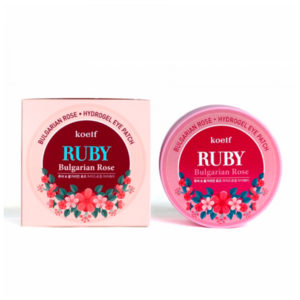Гидрогелевые патчи для глаз «Рубин и болгарская роза» Koelf Hydro Gel Ruby & Bulgarian Rose Eye Patch 60 шт