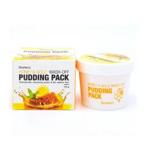 Маска для лица с медом и золотом Deoproce Honey And Gold Wash Off Puding Pack