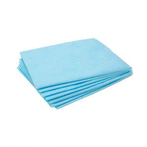 Салфетка 40*40 одноразовые в сложении (голубые)