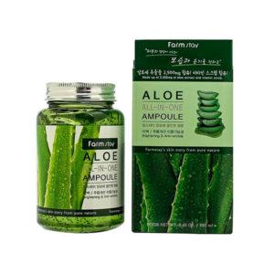 Ампульная сыворотка для лица с экстрактом алоэ Aloe All-In One Ampoule FarmStay