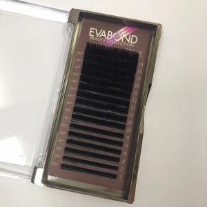 Ресницы на ленте черные EvaBond изгиб D, толщина 0,10, Mix 16 линий