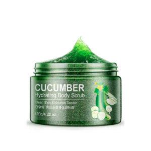Очищающий и увлажняющий скраб для тела с экстрактом зеленого огурца и грецкого ореха Bioaqua