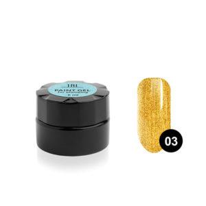 Гель-краска для стемпинга TNL №03 - золотая
