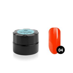 Гель-краска для стемпинга TNL №04 - неоновая оранжевая