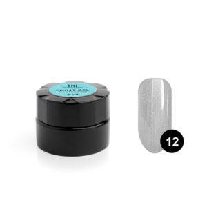 Гель-краска для стемпинга TNL №12 - серебряная