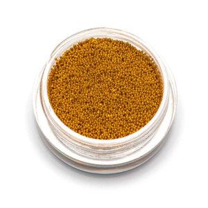 Бульонки супер мелкие - золото- 0,4 мм