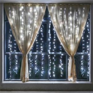 Новогодняя гирлянда-штора 3 х 3 м белый