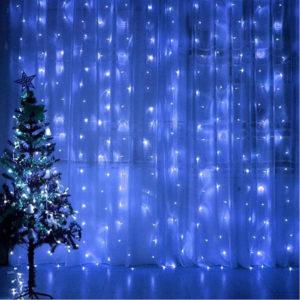 Новогодняя гирлянда-штора 2 х 2 м цветной