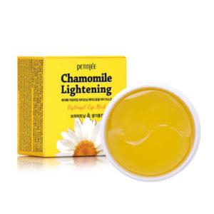 Осветляющие гидрогелевые патчи с экстрактом ромашки Petitfee Chamomile Lightening Hydrogel Eye Patch