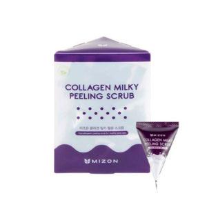 Скраб для лица с содой и экстрактом молочного белка Mizon Collagen Milky Peeling Scrub
