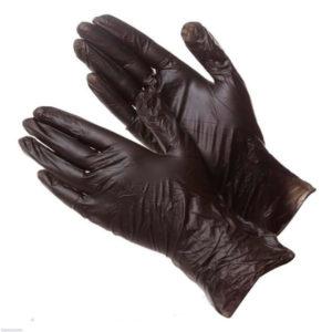 Перчатки  из пластичного эластомера черные, М (100 шт)