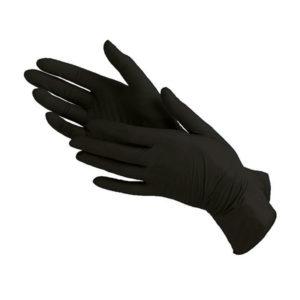 Перчатки нитриловые черные, S (100 шт)