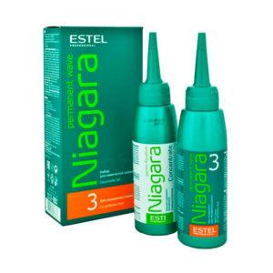 Набор NIAGARA для химической завивки волос №3 для окрашенных волос ESTEL