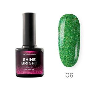 Гель-лак TNL Shine bright №06 - Изумрудная вуаль